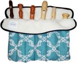 Flötenrolle mit sechs Fächern, Baumwolle<br><br><b>NEU !</b>