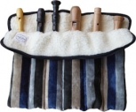 Roll Bag With Six Slots, velvet<br><br><b>NEW !</b>